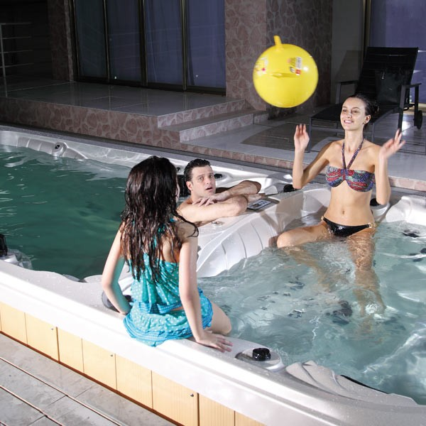 Swim Spas can form an important part of the day-to-day fitness regime of anyone who wants to stay in good shape. Offering 4 excercise stations, either swimming or rowing against the powerful built-in jets will provide an intense workout.